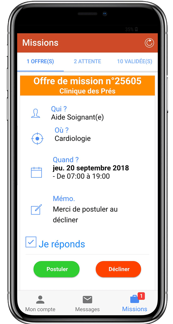 trouver missions offres d'emploi medical infirmier infirmiere aide soignante